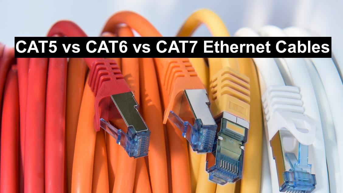 تفاوت کابل شبکه CAT5 ،CAT6 و CAT7