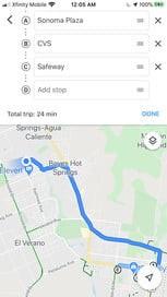 ایجاد مسیرهایی با چند مقصد در گوگل مپ
