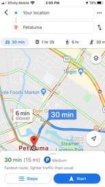 پیشبینی ترافیک به وسیله گوگل مپ