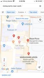 ذخیره آدرس در گوگل مپ