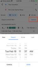 برنامه حرکت قطارها و اتوبوسها در گوگل مپ