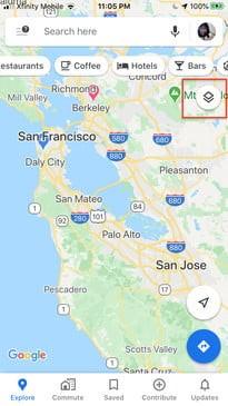 تغییر نمای نقشه