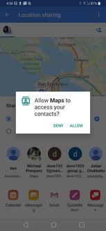 به اشتراک گذاشتن مکان فعلی