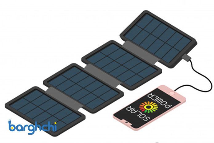 ترکیب یک پاور بانک با یک پنل خورشیدی قابلحمل