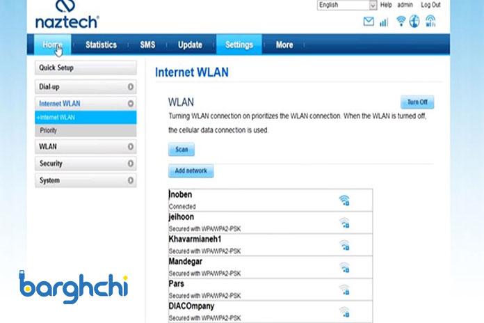 تنظیمات تقویت وای فای مودم Naztech NZT-99C