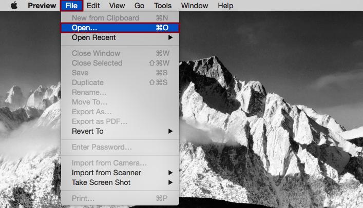 تبدیل پی دی اف به عکس در سیستم عامل مک او اس