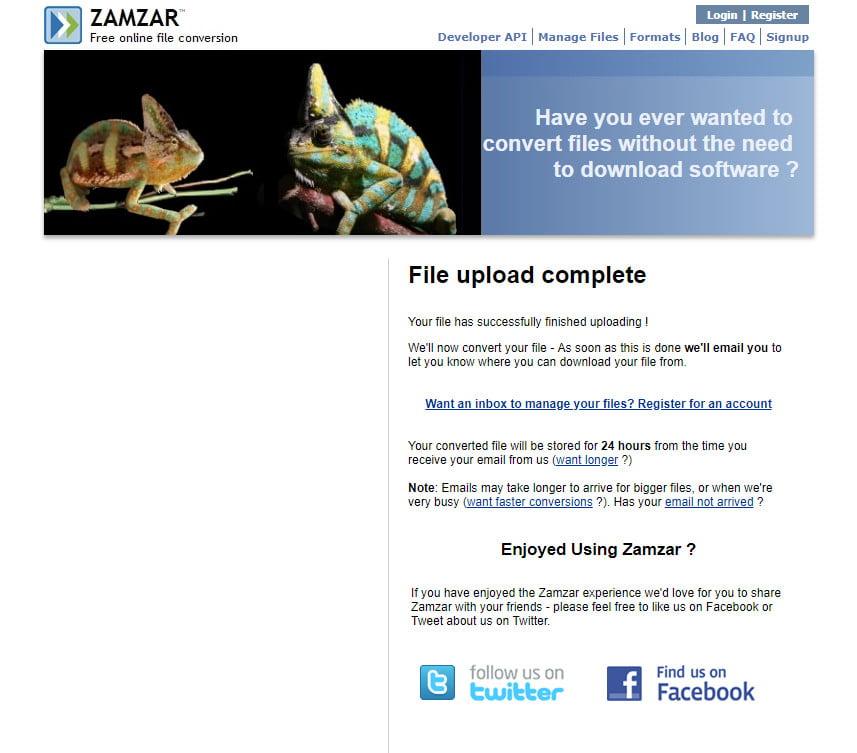 تبدیل PDF به JPG با استفاده از سایت Zamzar