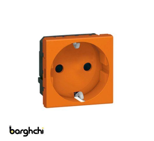 پریز برق ارت دار لگراند نارنجی Barghchi