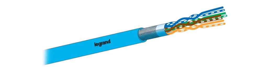کابل شبکه لگراند CAT6 SFTP   فروش کابل شبکه لگراند Legrand   مشخصات و ویژگی های کابل شبکه لگراندCat6 SFTP