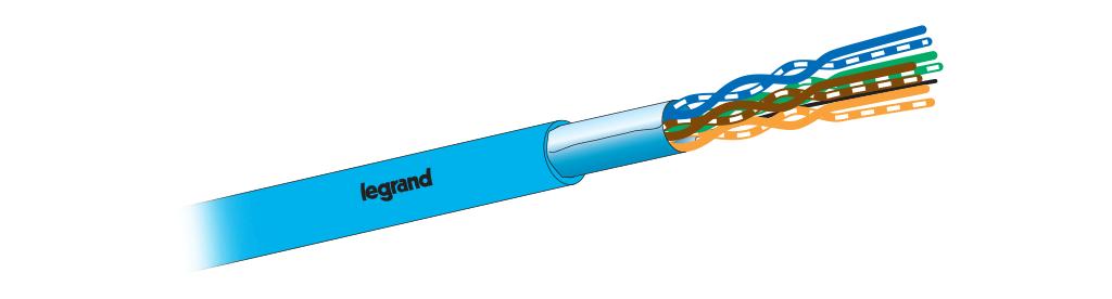 کابل شبکه CAT6 FTP باروکش LSZH لگراند | فروش کابل شبکه لگراند Legrand | مشخصات و ویژگی های کابل شبکه لگراندCAT6 FTP