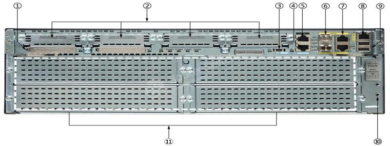 روتر سیسکو مدل Cisco 3945/K9