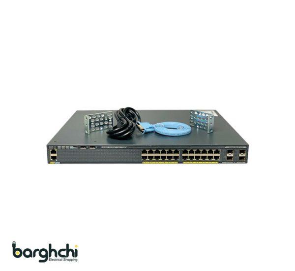 سوییچ شبکه 24 پورت سیسکو مدل WS-C2960X-24PS-L