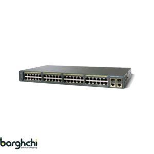 سوئیچ شبکه 48 پورت سیسکو مدل WS-C2960-48TC-L