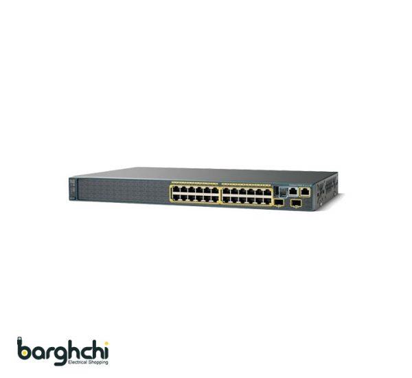 سوئیچ شبکه 24 پورت سیسکو مدل WS-C2960S-24TS-S