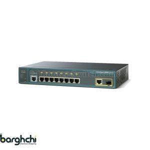 سوییچ شبکه 8 پورت سیسکو مدل WS-C2960-8TC-L