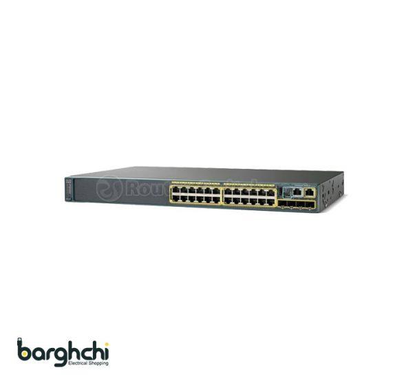سوئیچ شبکه 24 پورت سیسکو مدل WS-C2960S-24TS-L