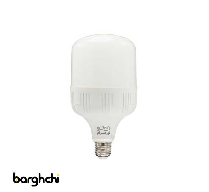 لامپ ال ای دی LED استوانه ای آفتابی نور صرام 30 وات