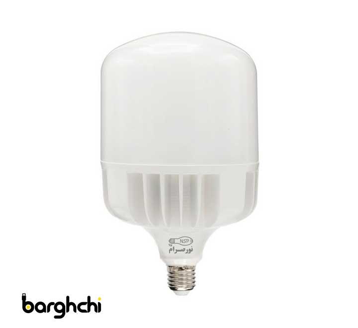 لامپ ال ای دی LED استوانه ای آفتابی نور صرام 80 وات