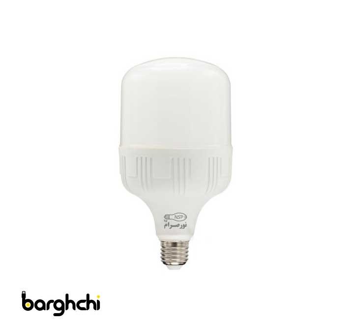 لامپ ال ای دی LED استوانه ای مهتابی نور صرام 30 وات