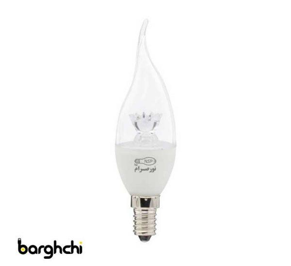 لامپ ال ای دی LED اشکی شفاف صدفی نور صرام 6 وات