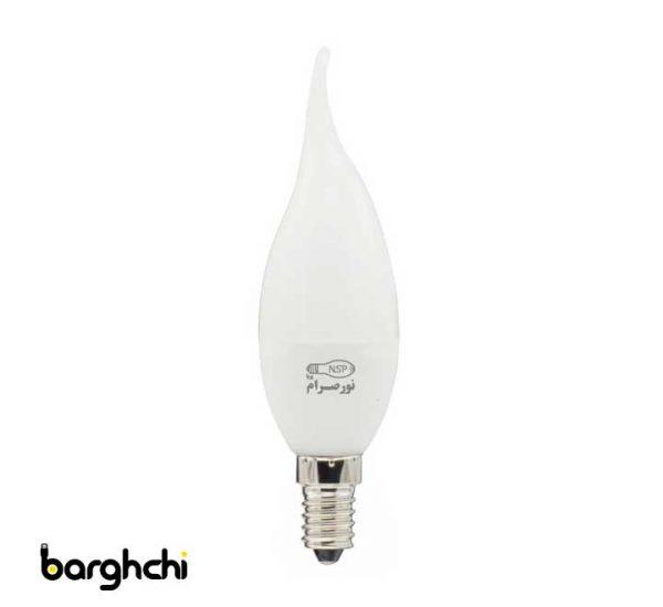لامپ ال ای دی LED اشکی مات مهتابی نور صرام 6 وات