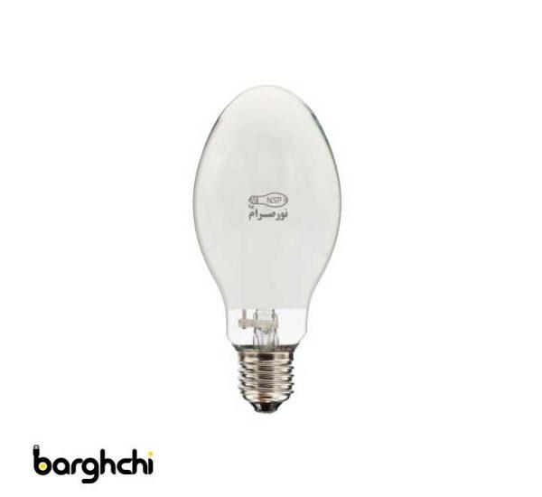 لامپ بخار جیوه نور صرام 125 وات سفید