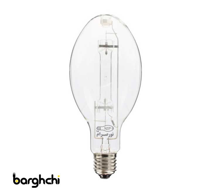 لامپ بخار جیوه نور صرام 400 وات سفید