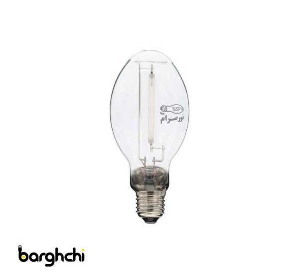 لامپ بخار سدیم بیضوی آفتابی نور صرام 70 وات