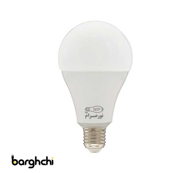 لامپ LED حبابی صدفی نور صرام 18 وات