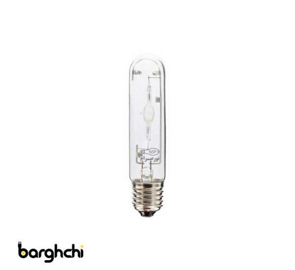 لامپ متال هالید استوانه ای سفید نور صرام 150 وات