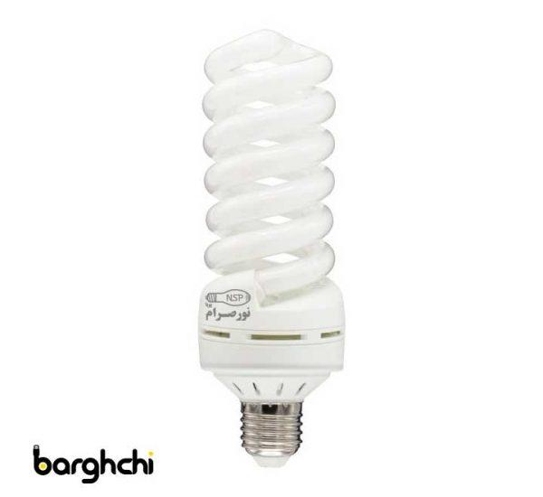 لامپ کم مصرف تمام پیچ آفتابی نور صرام 30 وات