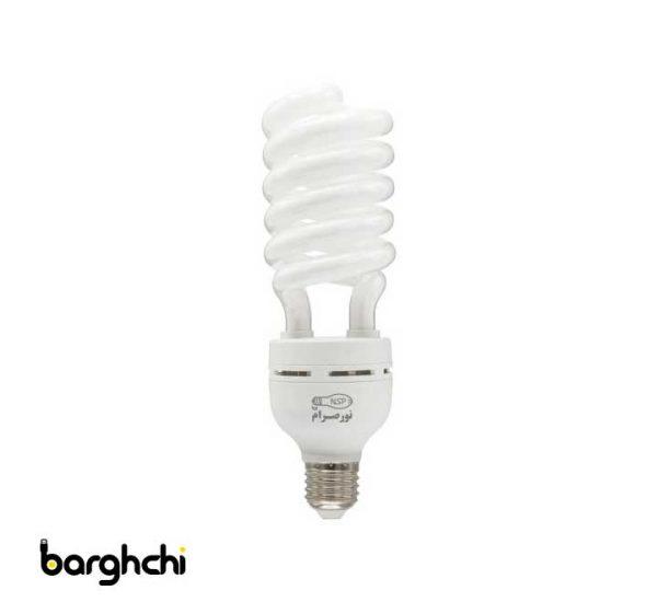 لامپ کم مصرف نیم پیچ آفتابی نور صرام 55 وات
