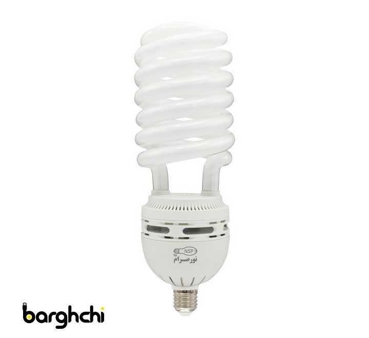 لامپ کم مصرف نیم پیچ آفتابی نور صرام 90 وات