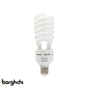 لامپ کم مصرف نیم پیچ مهتابی نور صرام 55 وات