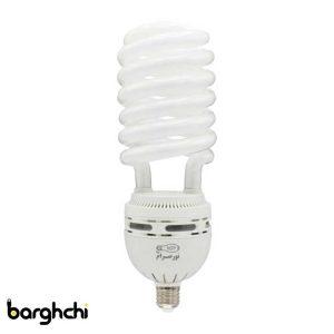 لامپ کم مصرف نیم پیچ مهتابی نور صرام 90 وات