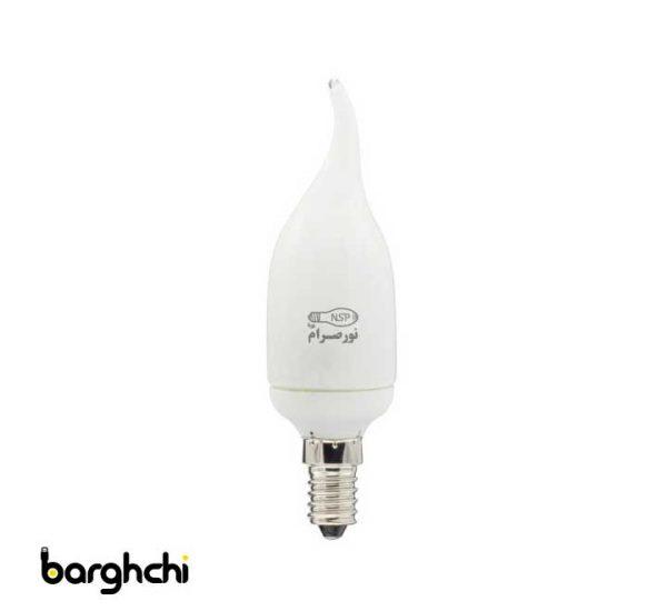 لامپ کم مصرف اشکی آفتابی نور صرام 9 وات