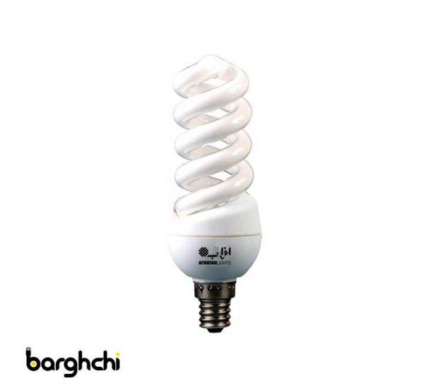 لامپ کم مصرف افراتاب 12 وات مدل 12FSP/E14
