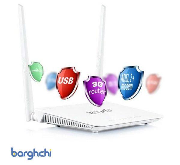 مودم روتر بیسیم تندا سری ADSL2+/3G مدل D303