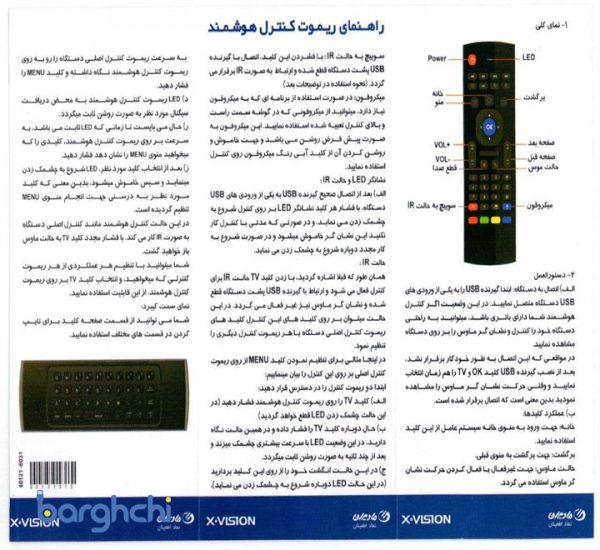گیرنده دیجیتال ایکس ویژن مدل XSMT-320k