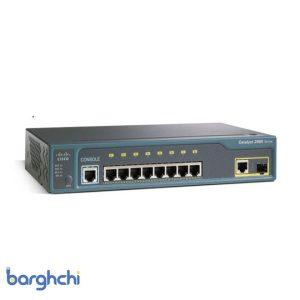 سوئیچ شبکه 8 پورت سیسکو WS-C2960-8TC-L